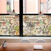 Sichtschutzfolie Abgerissene Poster - Panorama