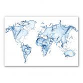 Spatscherm Splashing Worldmap