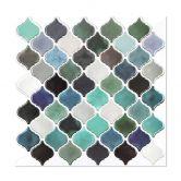 Carrelage adhésif arabesque turquoise - Set de 4 en 25,4 x 25,4 cm l'un