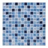 3D Fliesenaufkleber Mosaikmuster Ozeanblau - 4er Set je 30,5 x 30,5 cm