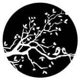 Muursticker  Liefdesvogeltjes + Klok