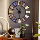 Vintage XXL Metal Wall Clock Shabby Style Ø60 cm