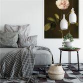 Wallprint W - Dietzsch - Essig-Rose mit Hummel