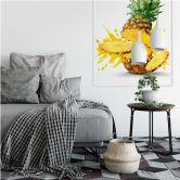Wallprint W - Splashing Pineapple
