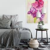 Wallprint Toetzke - Gladiolen Bouquet in Violett
