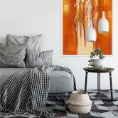 Wallprint Schüßler - Vier Figuren in Orange 02