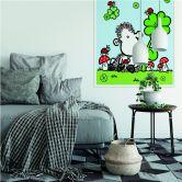 Zelfklevende Poster - Sheepworld - Happiness