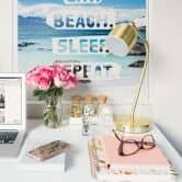 Wallprint W - Eat. Beach. Sleep. Repeat. - quadratisch