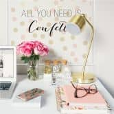 Wallprint Confetti & Cream - All you need is confetti