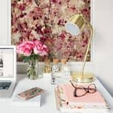 Wallprint W - Vintage Blütenmuster