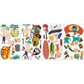 Wall sticker set Phineas and Ferb – 37 stickers