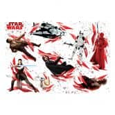 "Sticker murale -Star Wars ""L'ultimo Jedi"" 9 pezzi"