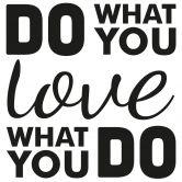 Wandtattoo Do what you love 03