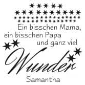 Wandtattoo + Name Ein bisschen Mama...