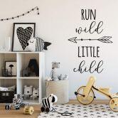 Wandtattoo Run wild little child