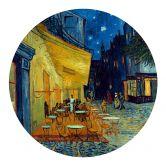 Muursticker Rond van Gogh - Café Terras