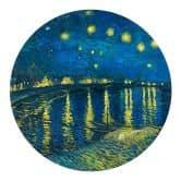 Wandtattoo van Gogh - Sternennacht 1888 - Rund