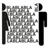 Wandtattoo WC - Bla-Bla-Bla - 80x76 cm