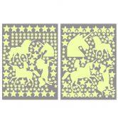Adesivi luminosi - Set di unicorni