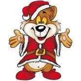 Wandtattoo Weihnachtsbär