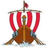 Wandtattoo Wikingerschiff 2