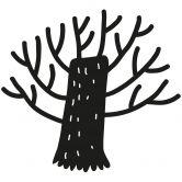 Wandtattoo Märchenbaum (2-farbig) inkl. Bilderleiste