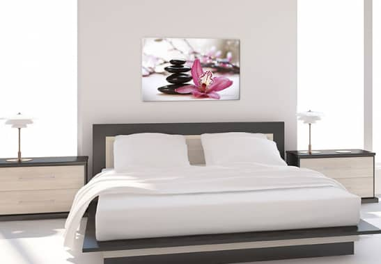 glasbild orchidee sorgt in jedem zimmer f r entspannung und wellness wall. Black Bedroom Furniture Sets. Home Design Ideas