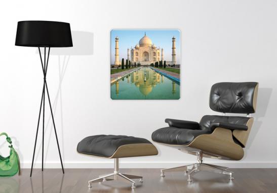 glasbild taj mahal quadratisch orientalische dekoration f r ihr zuhause wall. Black Bedroom Furniture Sets. Home Design Ideas