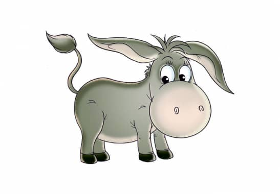 Wandtattoo Esel Fröhliches Tiermotiv als Esel Wandtattoo