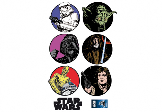 wandtattoos star wars embleme star wars sticker set. Black Bedroom Furniture Sets. Home Design Ideas