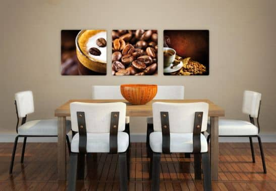 coffee triptychon wandbilder aus glas wall. Black Bedroom Furniture Sets. Home Design Ideas