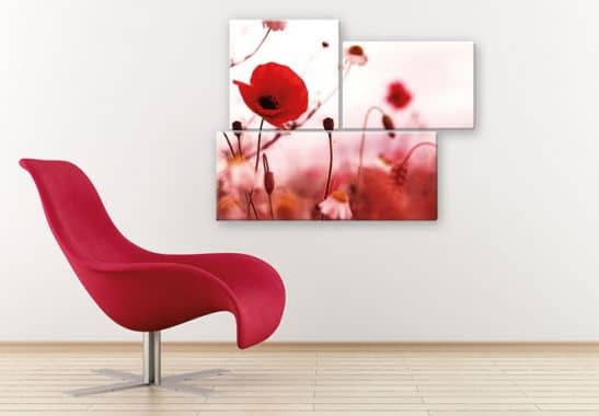 mohn impressionen 3 teilig wundersch ne blumen auf elegantem glas wall. Black Bedroom Furniture Sets. Home Design Ideas