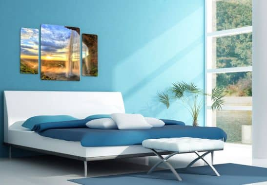 3 teiliges glasbild seljalandsfoss wasserfall von k l wall art wall. Black Bedroom Furniture Sets. Home Design Ideas