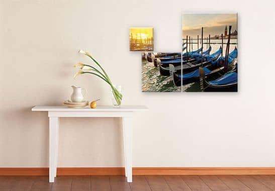 venezianische gondeln 3 teilig romantik f r ihr zuhause wall. Black Bedroom Furniture Sets. Home Design Ideas
