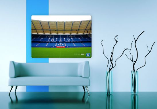 hsv wandbilder aus glas volksparkstadion wall. Black Bedroom Furniture Sets. Home Design Ideas