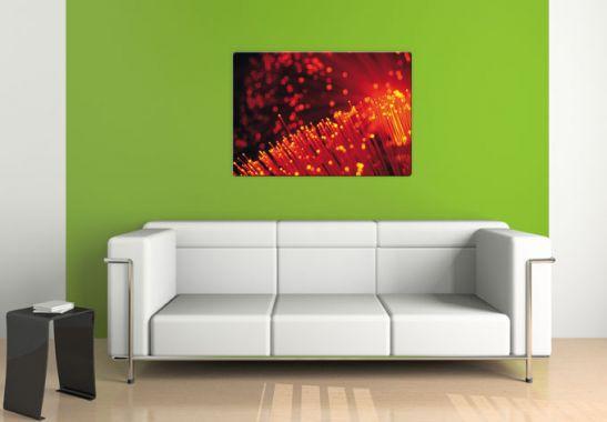 glasbild lichtfasern abstrakt lichteffekte f r s wohnzimmer wall. Black Bedroom Furniture Sets. Home Design Ideas