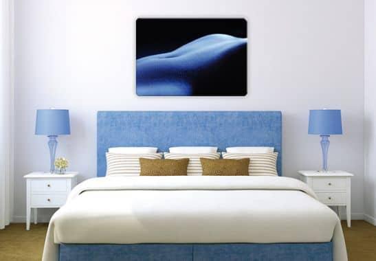 wandbild weiblicher akt frauenbauch als glasbild wall. Black Bedroom Furniture Sets. Home Design Ideas