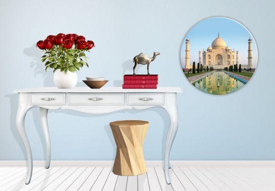 glasbild taj mahal orientalische dekoration f r ihr zuhause wall. Black Bedroom Furniture Sets. Home Design Ideas