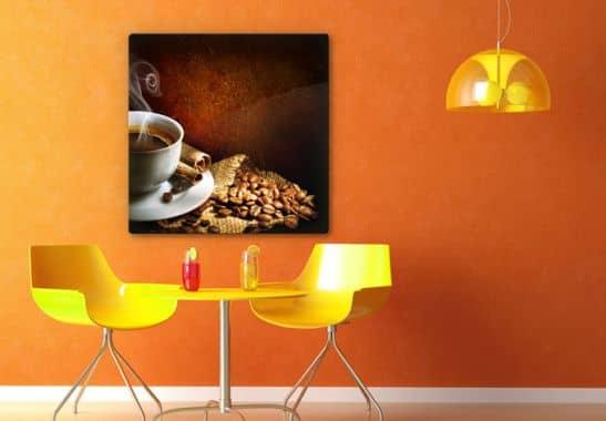 glasbild coffee wandbild f r kaffee freunde wall. Black Bedroom Furniture Sets. Home Design Ideas