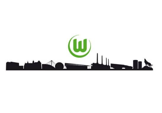 wandtattoo vfl wolfsburg skyline ideale fan deko f r die. Black Bedroom Furniture Sets. Home Design Ideas