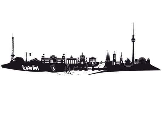 wandtattoo berlin skyline die hauptstadt noch reicher an details als wandsticker wall. Black Bedroom Furniture Sets. Home Design Ideas