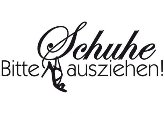 Wandtattoo Spruch - Bitte Schuhe ausziehen | wall-art.de
