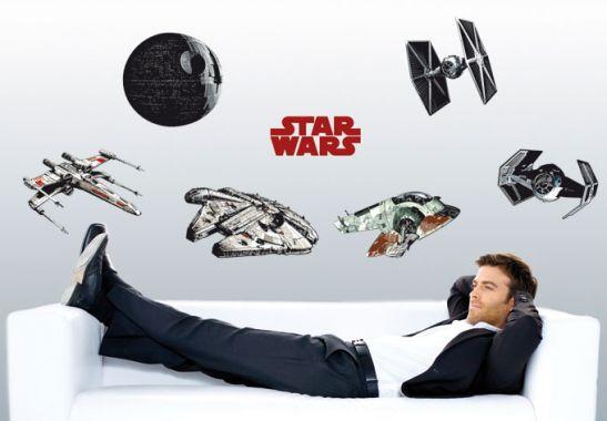 the clone wars star wars raumschiffe als wandtattoos. Black Bedroom Furniture Sets. Home Design Ideas