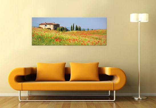 acrylglasbild toskana panorama das xxl motiv von k l. Black Bedroom Furniture Sets. Home Design Ideas
