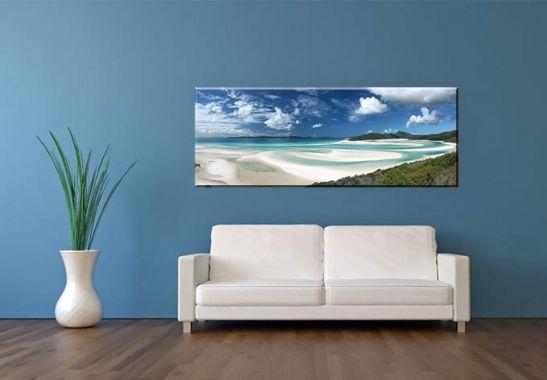 acrylglasbild whitehaven beach panorama das xxl motiv. Black Bedroom Furniture Sets. Home Design Ideas