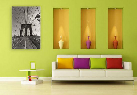 acrylglas brooklyn bridge perspektive das xxl motiv von. Black Bedroom Furniture Sets. Home Design Ideas
