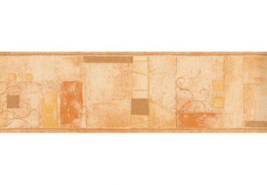 Hochwertige Tapeten M?nchen : Borte Abstrakt orange – sch?ne Bord?re f?r die Zimmerdekoration