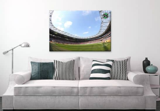 leinwandbilder leinwandbild hannover 96 stadion. Black Bedroom Furniture Sets. Home Design Ideas