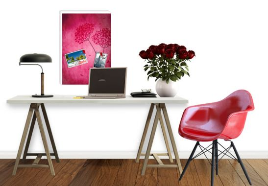 pinnwand pinke hortensie tolles memo board f r die k che. Black Bedroom Furniture Sets. Home Design Ideas