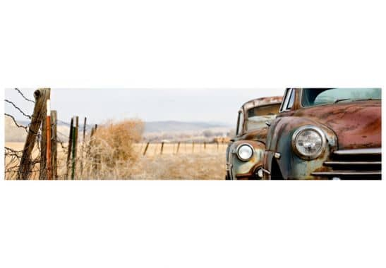 fototapete old rusted cars panorama wall. Black Bedroom Furniture Sets. Home Design Ideas